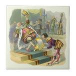 Cuento de hadas de la vieja poesía infantil de rey azulejo cerámica