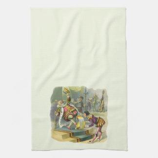 Cuento de hadas de la vieja poesía infantil de rey toallas de cocina