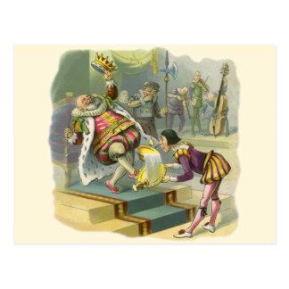 Cuento de hadas de la vieja poesía infantil de rey postal