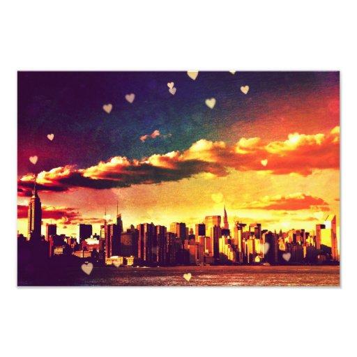 Cuento de hadas de Nueva York - corazones del hori Fotografía