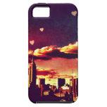 Cuento de hadas de Nueva York - corazones del hori iPhone 5 Case-Mate Carcasa