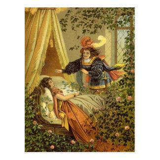 Cuento de hadas del Victorian del vintage, bella Tarjeta Postal