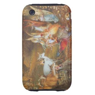 Cuento de hadas del vintage, bosque encantado de iPhone 3 tough protectores