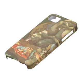 Cuento de hadas del vintage, Caperucita Rojo iPhone 5 Case-Mate Carcasa
