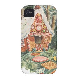 Cuento de hadas del vintage, Hansel y casa del Vibe iPhone 4 Carcasas