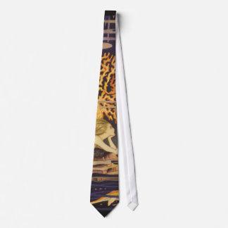 Cuento de hadas del vintage, little mermaid en corbatas personalizadas