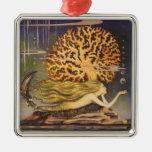 Cuento de hadas del vintage, little mermaid en ornamentos de reyes