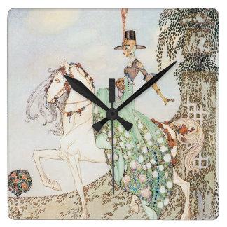 Cuento de hadas del vintage, princesa Minette, Kay Reloj Cuadrado