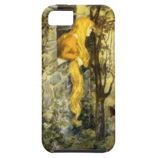 Cuento de hadas del vintage, Rapunzel con el pelo iPhone 5 Case-Mate Cárcasa