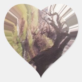 Cuento de hadas en violeta pegatina en forma de corazón