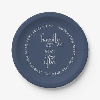 Cuento de hadas que casa feliz la placa de papel platos de papel