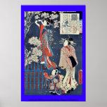 Cuento de Wakamurasaki de la cortesana por Utagawa Posters