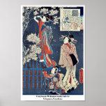 Cuento de Wakamurasaki de la cortesana por Utagawa Poster