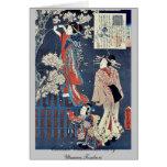 Cuento de Wakamurasaki de la cortesana por Utagawa Tarjeta