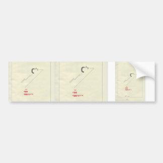 Cuento del EL Lissitzky- Suprematic cerca de dos c Etiqueta De Parachoque
