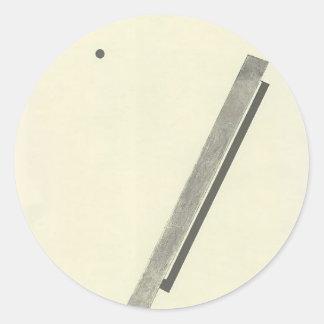 Cuento del EL Lissitzky- 'Suprematic cerca de dos Pegatina Redonda