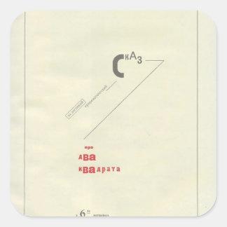 Cuento del EL Lissitzky- Suprematic cerca de dos Pegatina Cuadrada