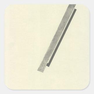Cuento del EL Lissitzky- 'Suprematic cerca de dos Pegatina Cuadrada
