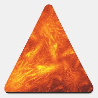 Cuento del jefe muchos soles pegatina triangular