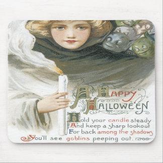 Cuento pasado de moda del Goblin de Halloween Alfombrillas De Raton