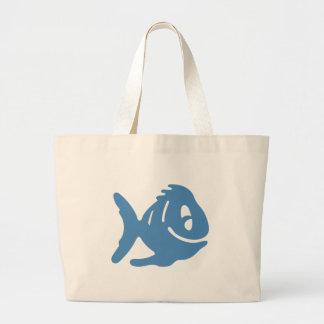 Cuentos azules de los pescados bolsa tela grande