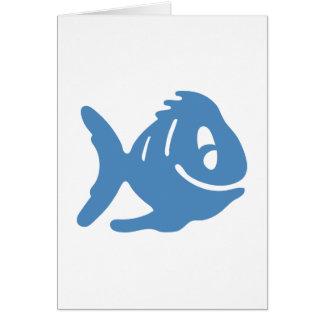 Cuentos azules de los pescados tarjeta de felicitación