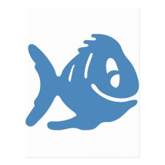 Cuentos azules de los pescados tarjeta postal