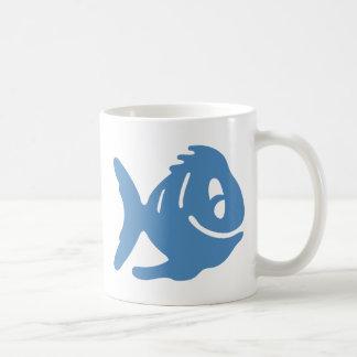 Cuentos azules de los pescados taza