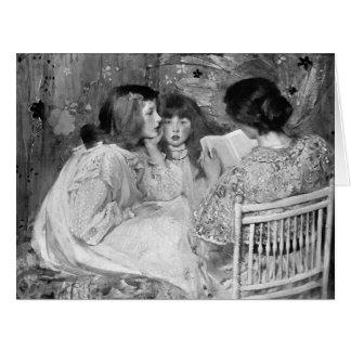 Cuentos de hadas 1895 tarjeta de felicitación grande