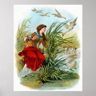 Cuentos de hadas clásicos - los cisnes salvajes póster
