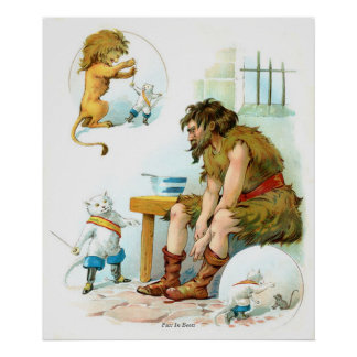 Cuentos de hadas clásicos - Puss en botas Póster