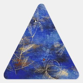 Cuentos de hadas de Paul Klee Pegatina Triangular