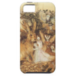 Cuentos de hadas del vintage, conejo entre las had iPhone 5 carcasas