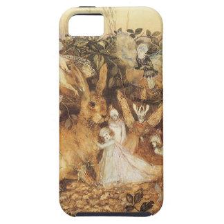 Cuentos de hadas del vintage, conejo entre las iPhone 5 fundas