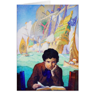 Cuentos de N C Wyeth de la aventura Tarjeta De Felicitación