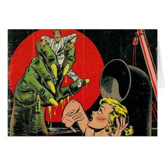Cuentos del horror cómicos tarjeta de felicitación