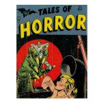Cuentos del horror cómicos tarjetas postales