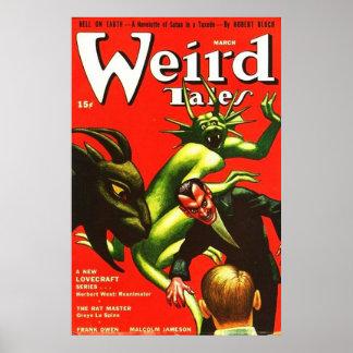 Cuentos marzo de 1942 extraño póster