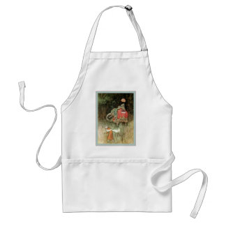 Cuentos populares de la bella arte del vintage del delantal