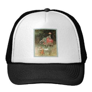 Cuentos populares de la bella arte del vintage del gorra