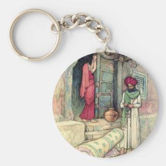 Cuentos populares de la bella arte del vintage del llavero personalizado