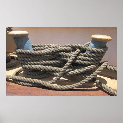 Cuerda alta del bolardo w de la nave posters