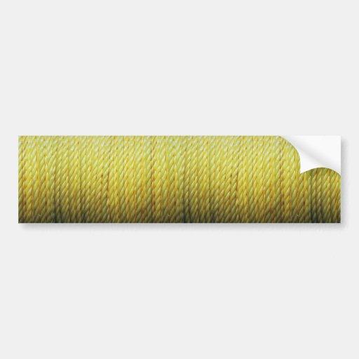 Cuerda amarilla pegatina para auto