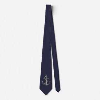 Cuerda anclada corbatas