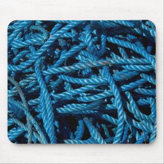 Cuerda azul Mousepad Alfombrillas De Raton