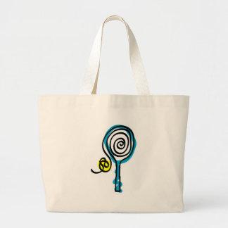 Cuerda colorida del espiral del tenis bolsa