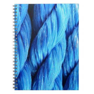 Cuerda de barco azul de la aguamarina vibrante - note book