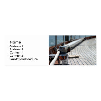 cuerda de barco de vela tarjetas de visita mini