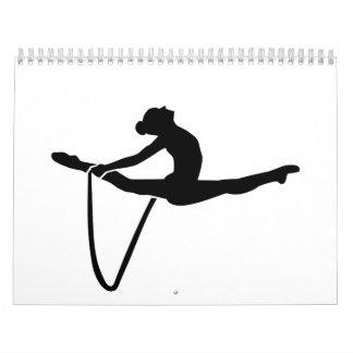 Cuerda de la gimnasia calendario