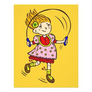 """Cuerda de salto del chica folleto 8.5"""" x 11"""""""